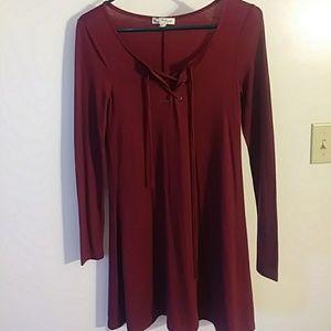 Burgendy dress